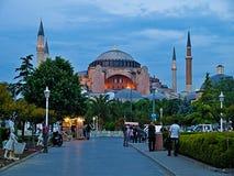 Images de permutation et taiking de personnes en dehors de Hagia Sofia image libre de droits