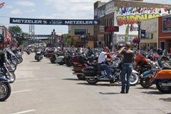 Images de rassemblement le Dakota du Sud de sturgis Image libre de droits