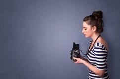 Images de tir de photographe avec le secteur de copyspace Photos libres de droits