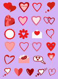 Images of different hearts. Image hearts with a Declaration of love Royalty Free Stock Images