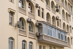 Images of facades of city buildings Stock Images