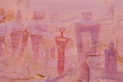 Images fantomatiques créées par les Indiens antiques photos stock