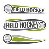 Images on the field hockey theme. Abstract images on the field hockey theme stock illustration