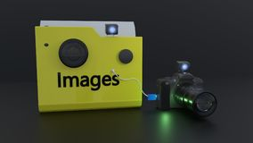 Images folder symbols, 3d rendering. Images folder symbols, 3d render Stock Image
