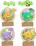 Images of funny dinosaurs Stock Photo