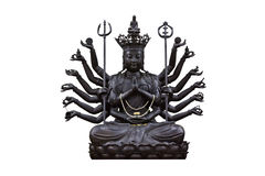The images of Guanyin black. On white background Royalty Free Stock Photo