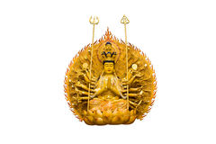 The images Guanyin on white background Stock Photos