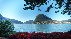 Images of the Gulf of Lugano Royalty Free Stock Photography