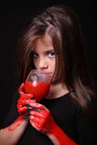 Images for Halloween. The girl in the image of a vampire for Halloween Stock Photos