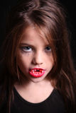 Images for Halloween. The girl in the image of a vampire for Halloween Stock Photography