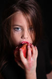 Images for Halloween. The girl in the image of a vampire for Halloween Royalty Free Stock Photography