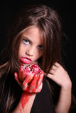 Images for Halloween. The girl in the image of a vampire for Halloween Stock Images