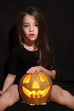 Images for Halloween. The girl is preparing for Halloween Challenge Royalty Free Stock Photo