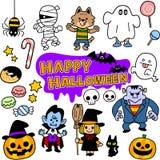 The images of Halloween illustration set vector illustration