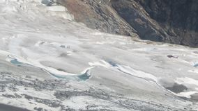 View from helicopter excursion on Mendenhall Glacier Juneau Alaska. Images from the helicopter before landing. one part of the excursion is waiting to land the Stock Image