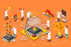 Images isométriques d'intelligence artificielle pour des images de héros illustration libre de droits