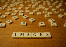 Images letters. Abstract letters arranged to form background royalty free stock images