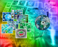 Images. Many abstract images on the theme of computers, Internet and high technology stock photos