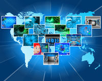 Images and a map of the Earth 21.06.13 Stock Photos