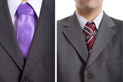 Images of men with ties Royalty Free Stock Image