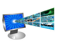 Images from the monitor Royalty Free Stock Image
