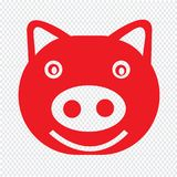 Cute pig emotion Icon Illustration sign design royalty free stock photos