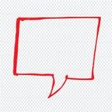 Hand drawn bubble speech Illustration symbol design stock image