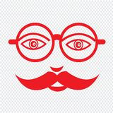 Mustache guy Face Illustration sign design Royalty Free Stock Photos