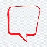 Speech bubble hand drawn Illustration symbol design Stock Images