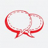 Speech bubble hand drawn Illustration symbol design Stock Image