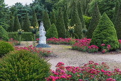 Images of the Portuguese garden in the park Mondo Verde. Royalty Free Stock Images