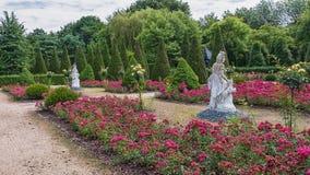 Images of the Portuguese garden in the park Mondo Verde. Royalty Free Stock Photos