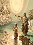 The baptism of Jesus Christ. Royalty Free Stock Photos