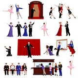 Images Set Of Theater People Stock Photo