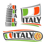 Images on the subject of Italy. Abstract images on the subject of Italy Stock Photography