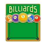 Images for text on the subject of billiard Stock Images