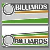 Images for text on the subject of billiard Stock Photos