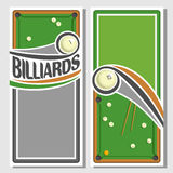 Images for text on the subject of billiard vector illustration