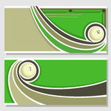 Images for text on the subject of billiard Stock Photography