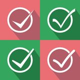Set of check box. Accept, checkbox or check mark. Images to check the results or the number of these answers are in 4 vector models. You can download items at royalty free illustration