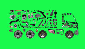 Images truck assembled from new spare parts Stock Images