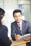 Images of two businessman discussion work Royalty Free Stock Photos