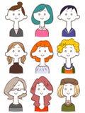 Young lady illustration set 2 royalty free illustration