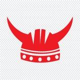 Viking Helmet Icon Illustration sign design. An images of Viking Helmet Icon Illustration sign design Stock Images