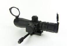 Rifle scope. Images of a 3x9x42 scope for rifle light on a white background Stock Photography