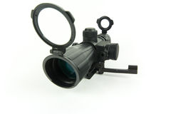 Rifle scope. Images of a 3x9x42 scope for rifle light on a white background Royalty Free Stock Photos