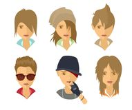 Images of young people Royalty Free Stock Photo