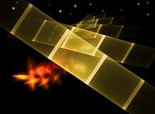 Imaginação abstrata do espaço com constelação fotos de stock royalty free