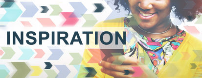 A imaginação da aspiração da inspiração inspira o conceito ideal Imagens de Stock