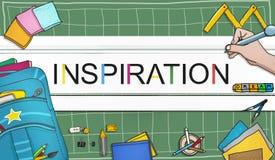 A imaginação da aspiração da inspiração inspira o conceito ideal Foto de Stock